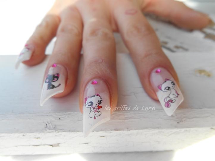 Nail art Sexy cats 1