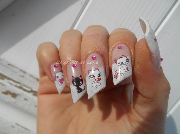 Nail art Sexy cats 2
