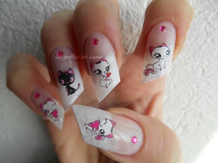 Nail art Sexy cats 3