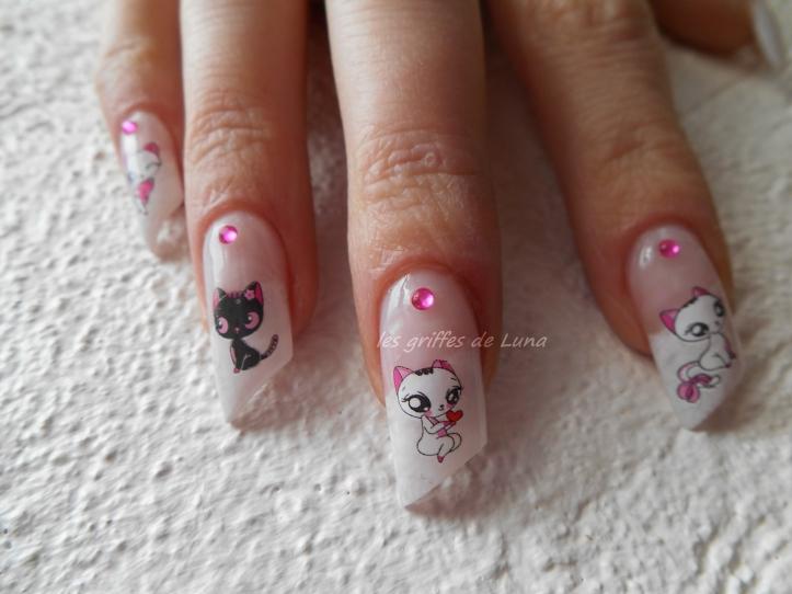 Nail art Sexy cats 4