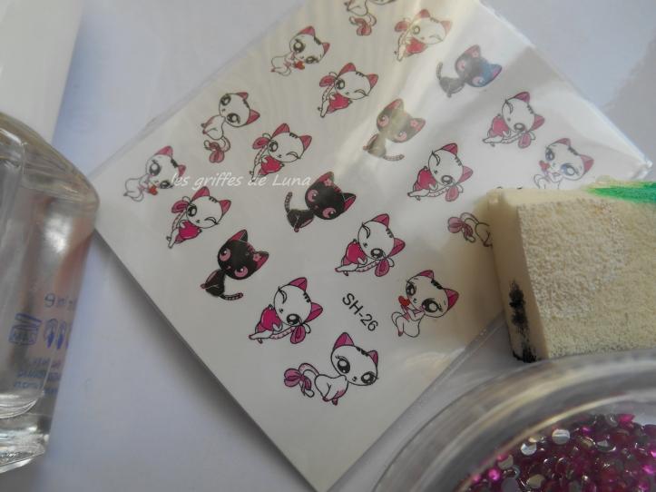 Nail art Sexy cats materiel 2