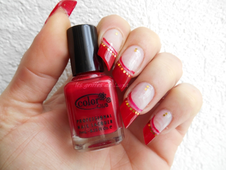 Nail art French style oriental 1