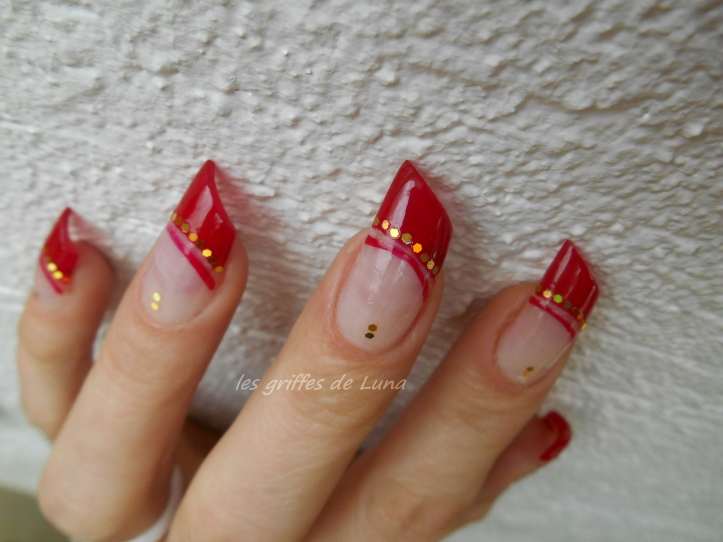 Nail art French style oriental 2