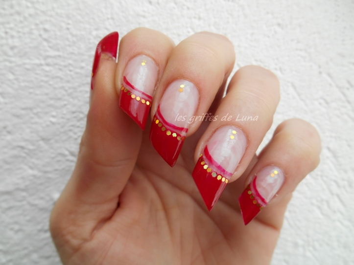 Nail art French style oriental 3
