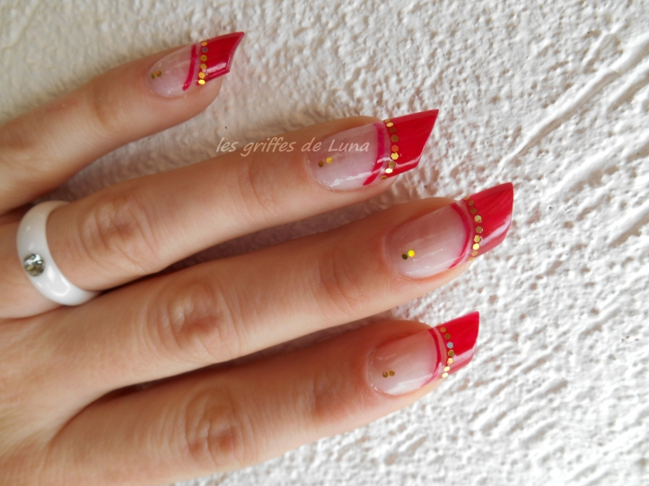 Nail art French style oriental 4