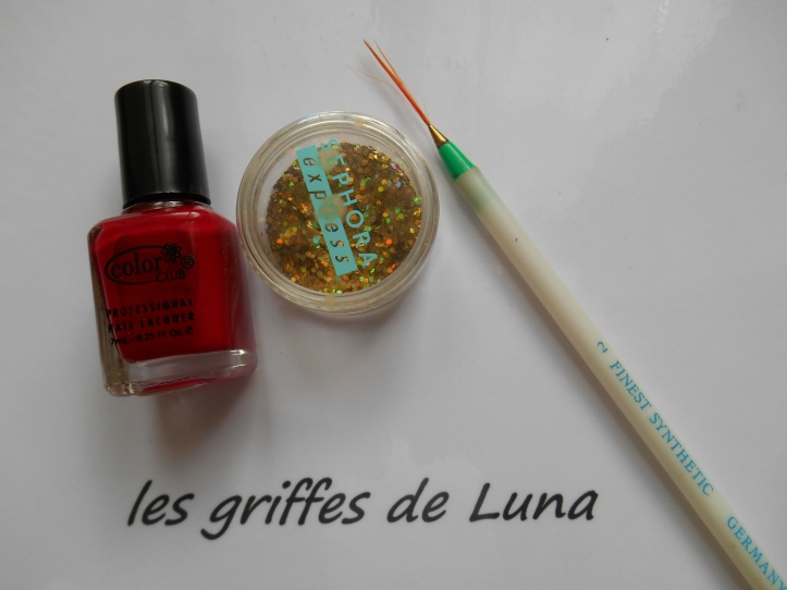 Nail art French style oriental materiel