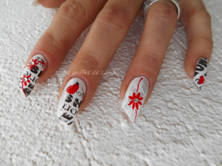 Nail art Stamping monochrome 1