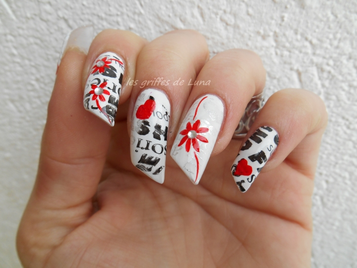 Nail art Stamping monochrome 2