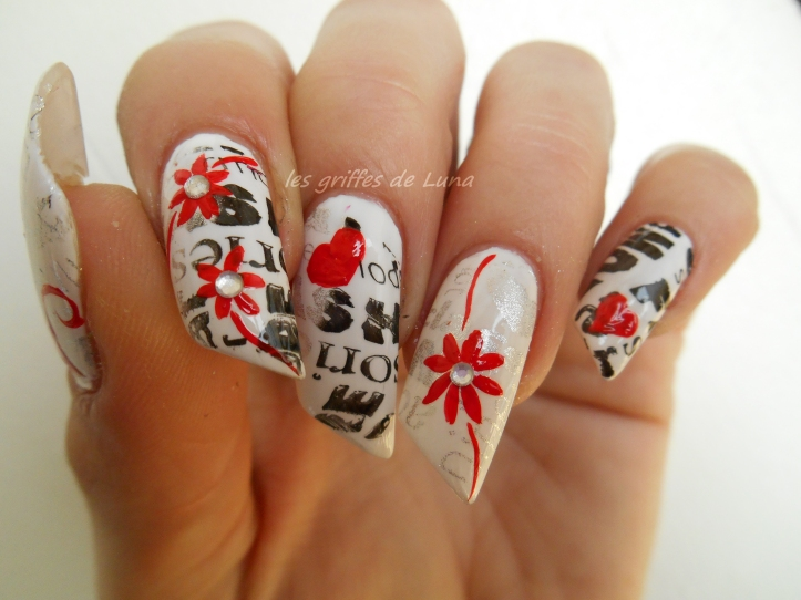 Nail art Stamping monochrome 3
