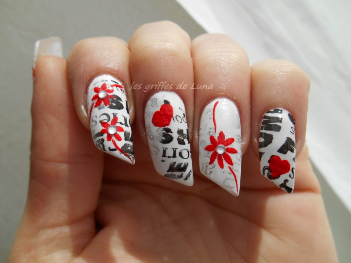 Nail art Stamping monochrome 4