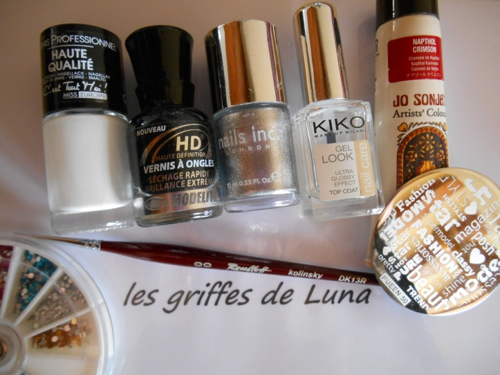 Nail art Stamping monochrome materiel