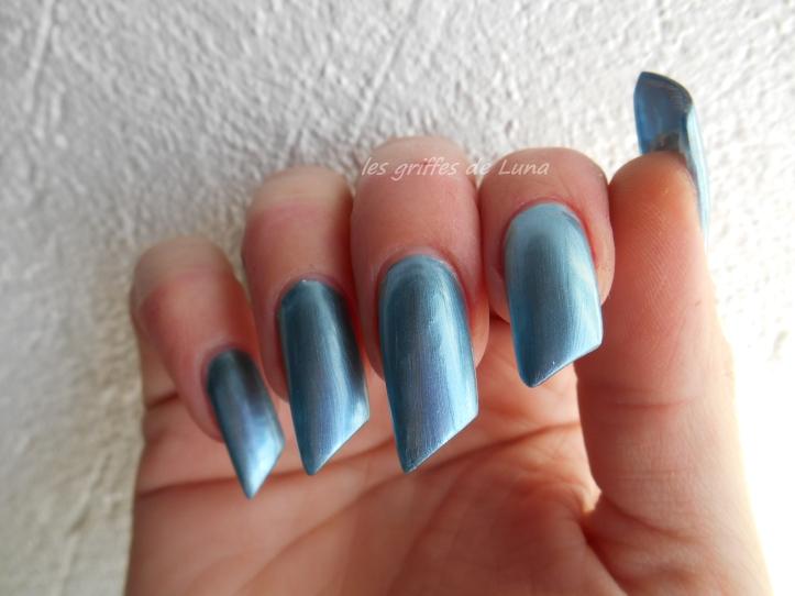 NYC Foil explosion Aqua mystic 013 bleu 2