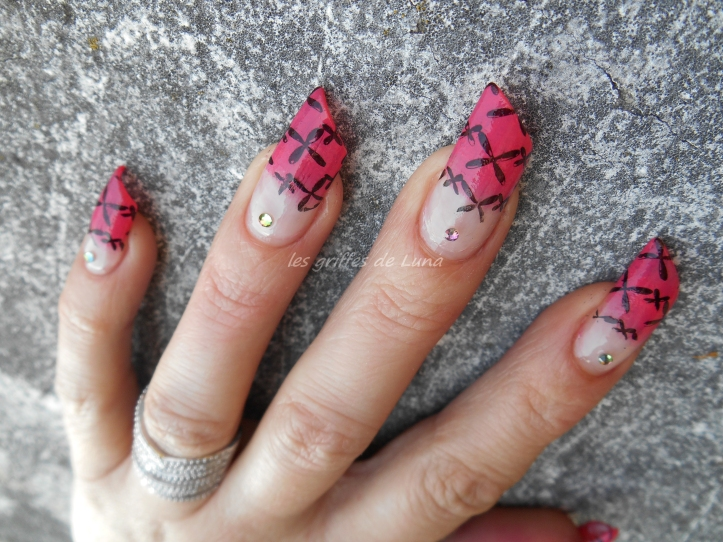 Nail art French mousse & stamping 3