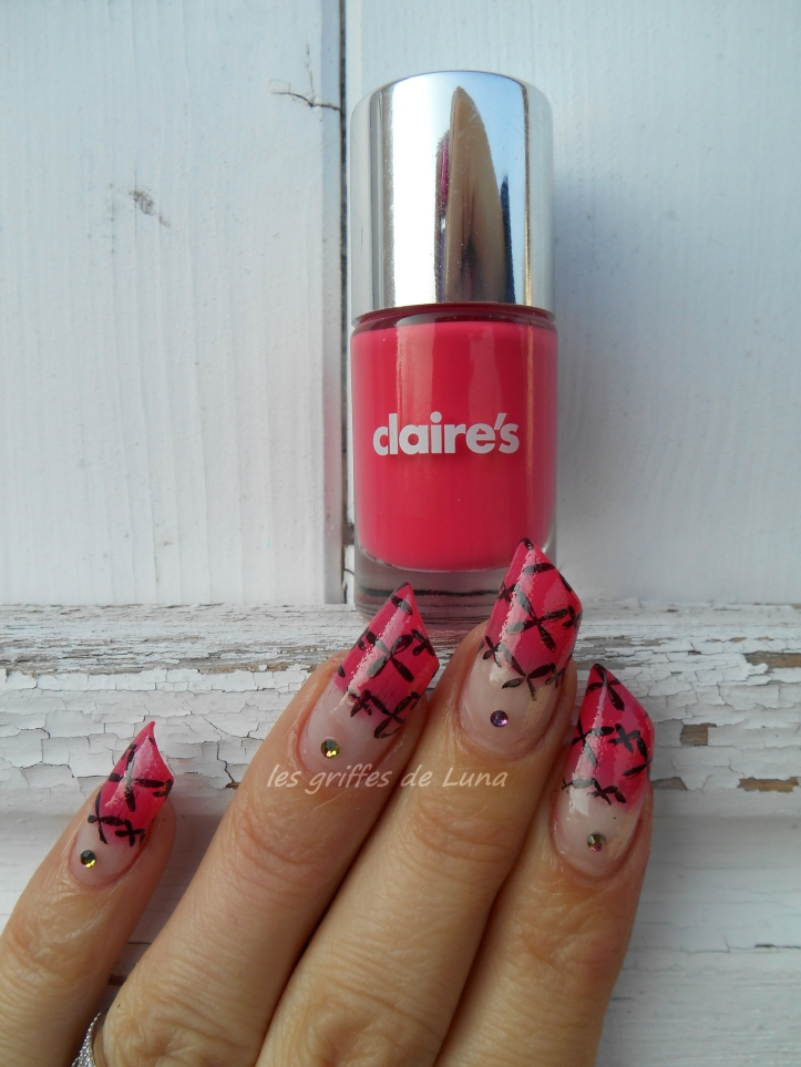 Nail art French mousse & stamping 4