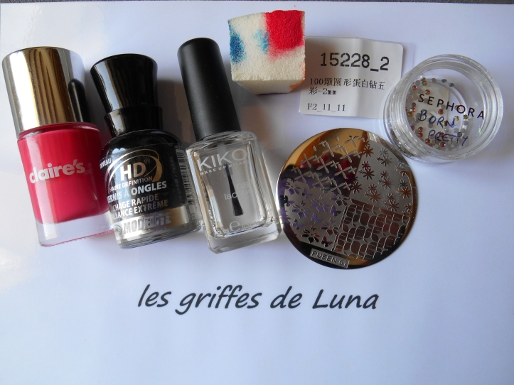 Nail art French mousse & stamping materiel
