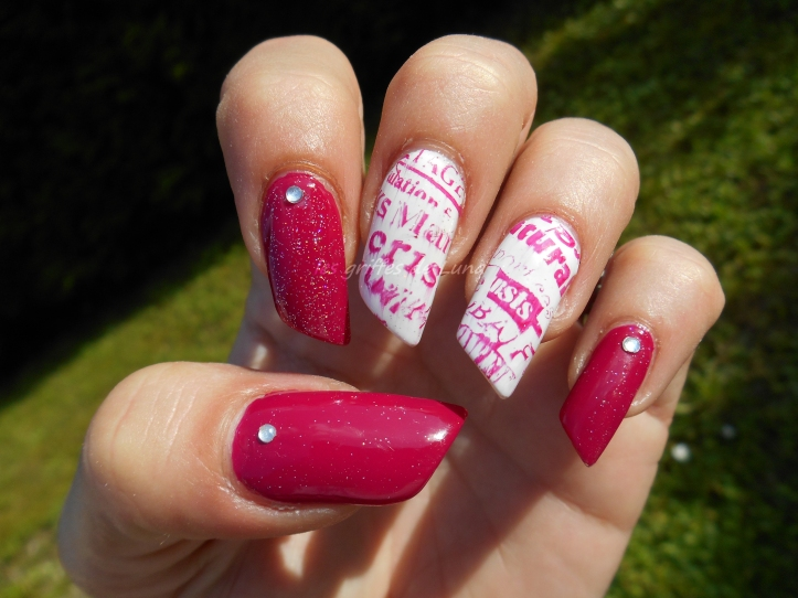 Nail art Manuscrit girly 4