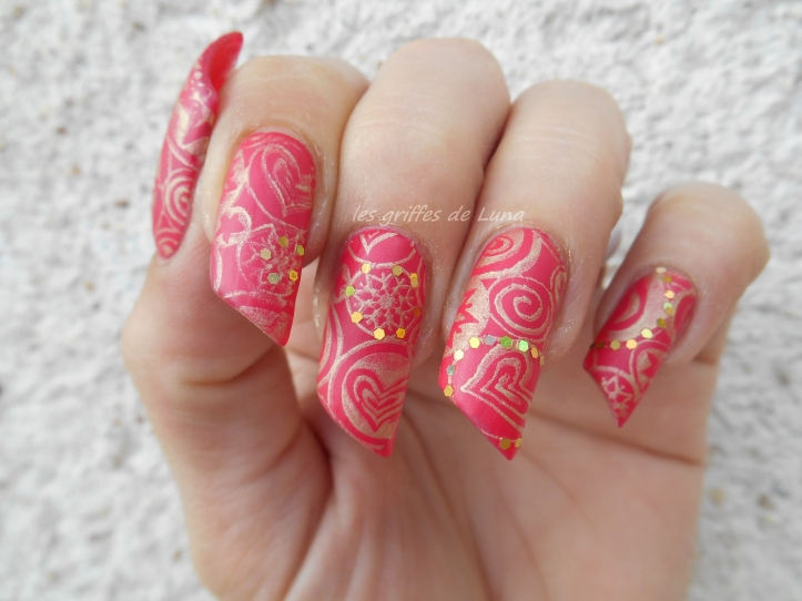 Nail art Stamping mat & paillettes 1
