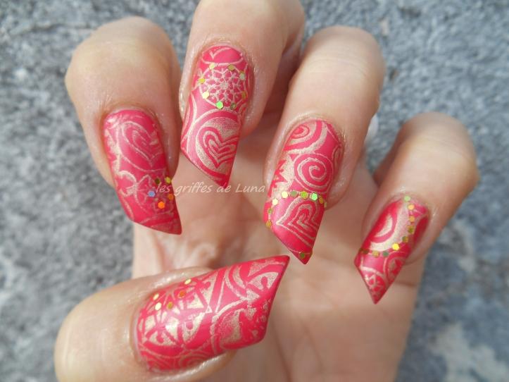 Nail art Stamping mat & paillettes 2