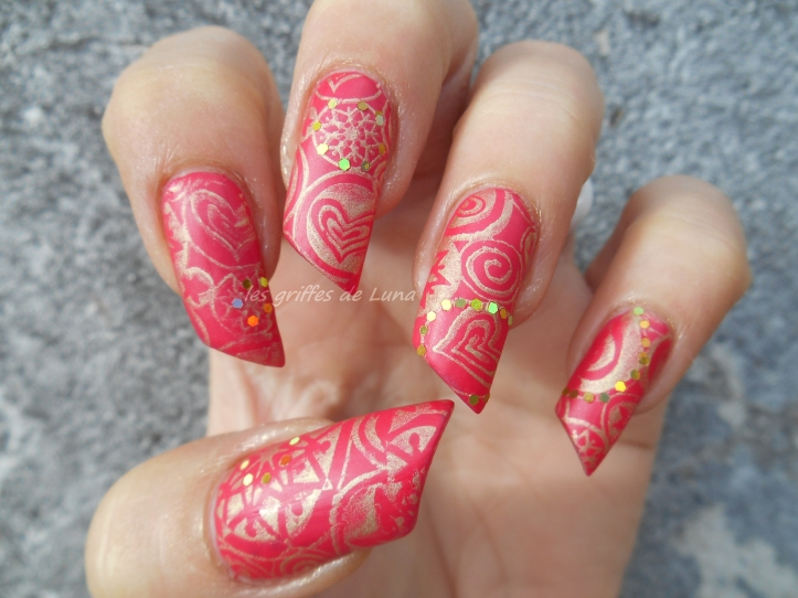 Nail art Stamping mat & paillettes 2