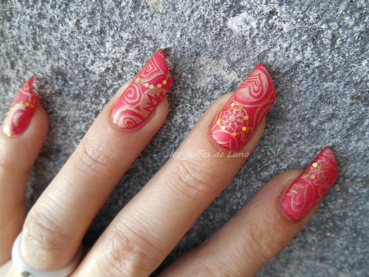 Nail art Stamping mat & paillettes 3