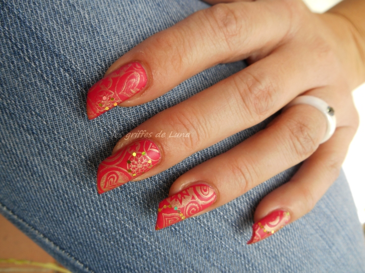 Nail art Stamping mat & paillettes 4