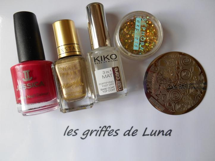 Nail art Stamping mat & paillettes materiel