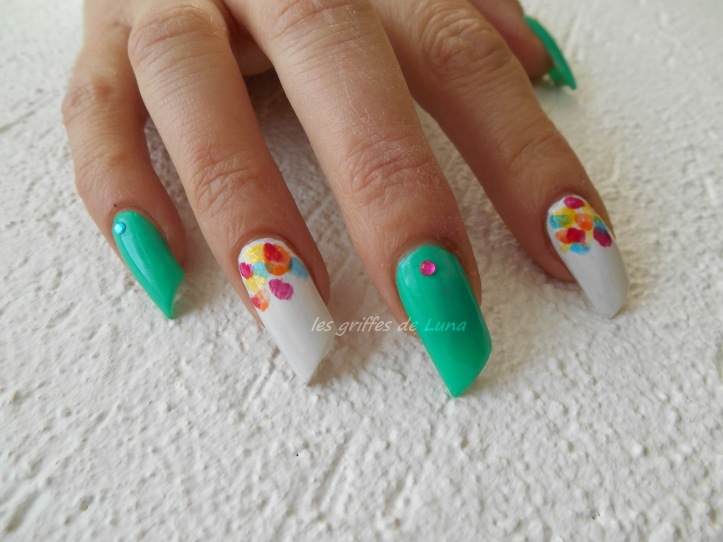 Nail art Touches de couleurs 1