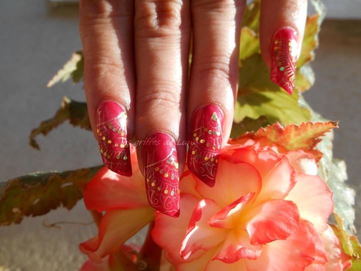 Nail art Eventails 1