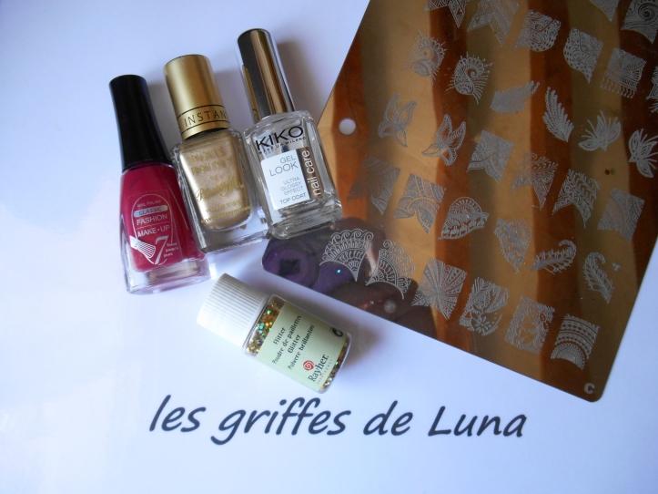 Nail art Eventails materiel