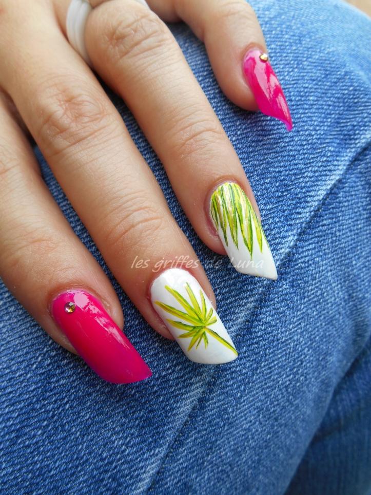Nail art Palmier 1