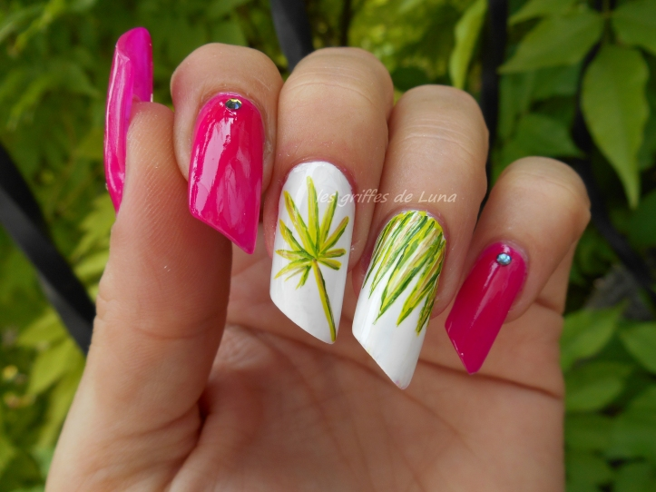 Nail art Palmier 2