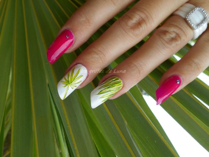 Nail art Palmier 3
