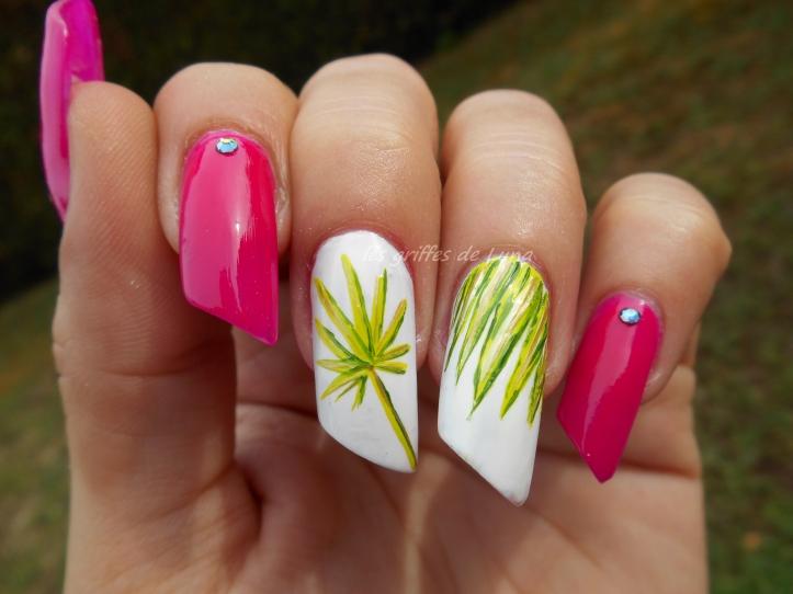 Nail art Palmier 4