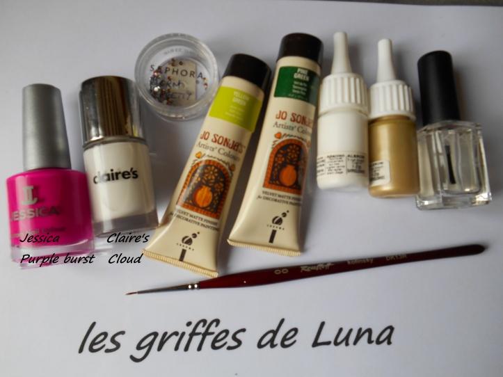 Nail art Palmier materiel