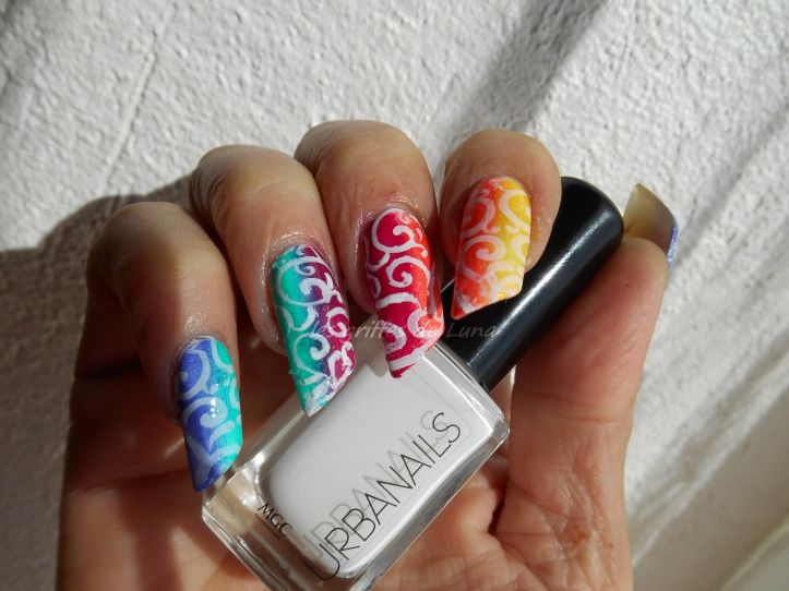Nail art dégradé coloré 4
