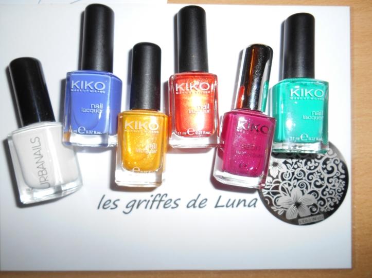 Nail art dégradé coloré materiel