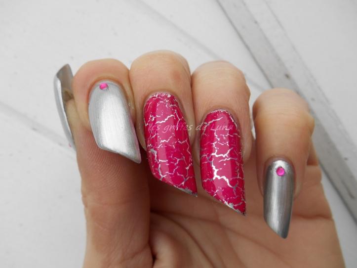 Nail art Foil & argent 1