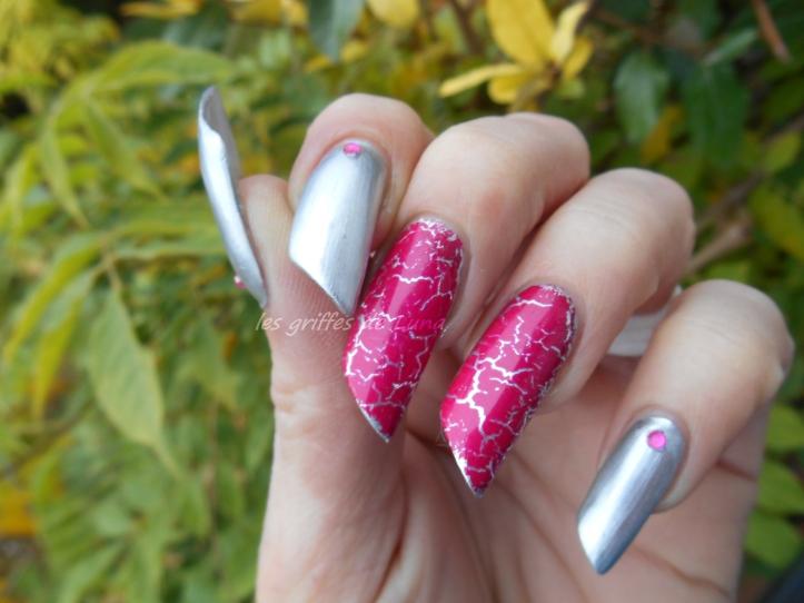 Nail art Foil & argent 4