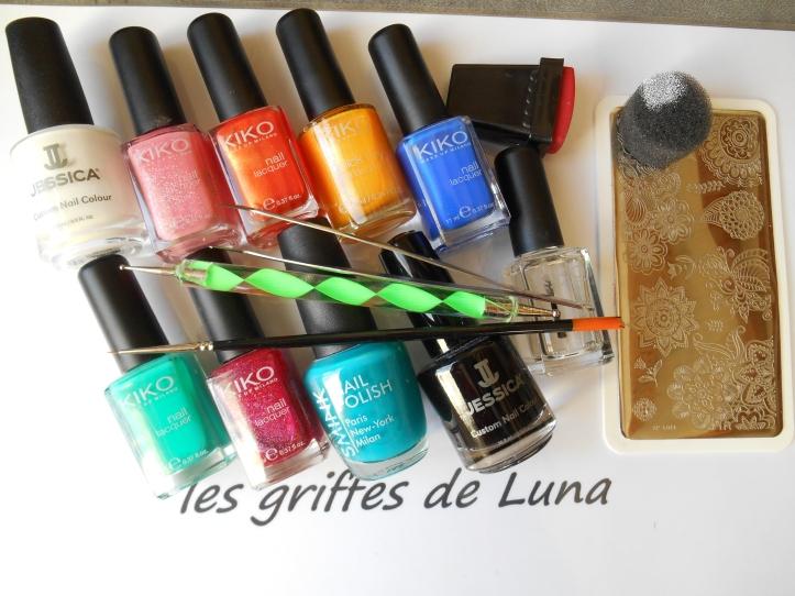 Nail art premier Stamping inversé materiel