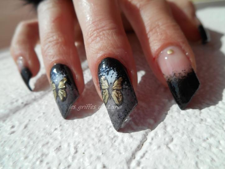 Second essai stamping inversé Noir & papillon 1