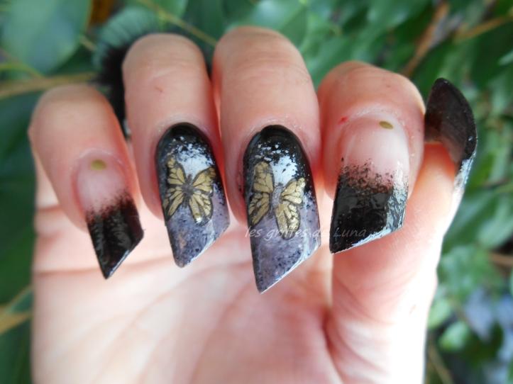 Second essai stamping inversé Noir & papillon 2
