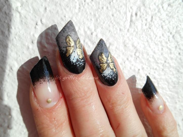 Second essai stamping inversé Noir & papillon 4