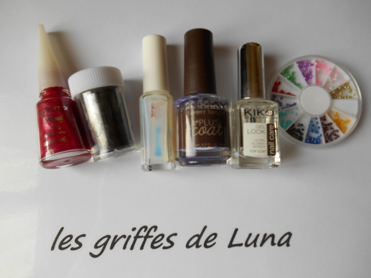 Nail art Sorbet & dentelle materiel