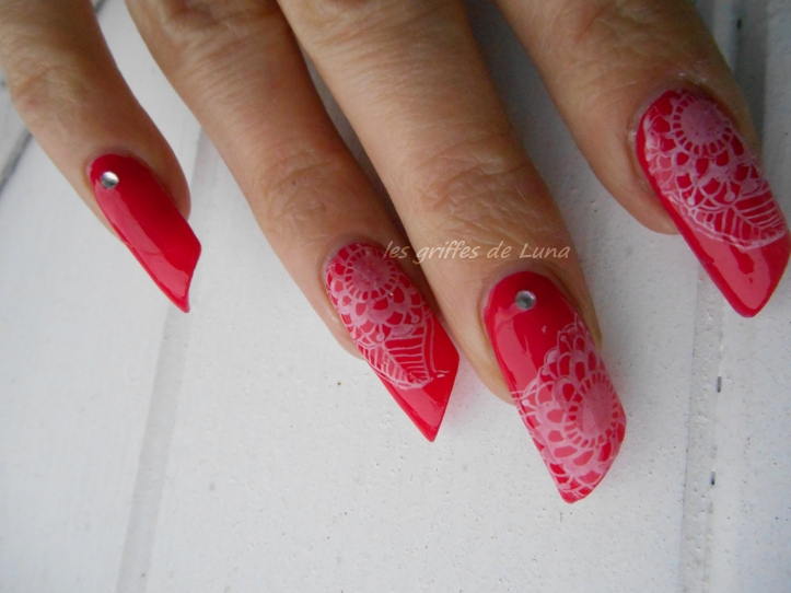 Nail art Stamping blanc & Fashion make up 0127  2