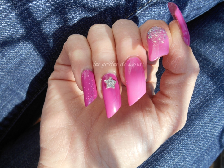 Nail art Pink princess 2