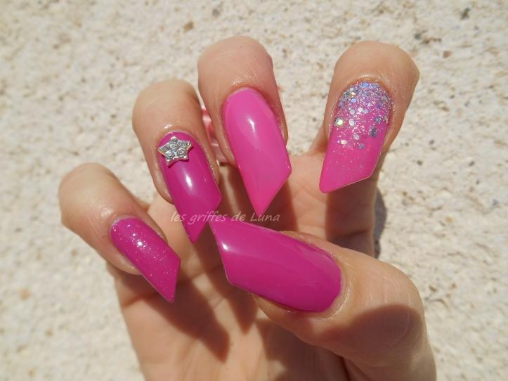 Nail art Pink princess 3