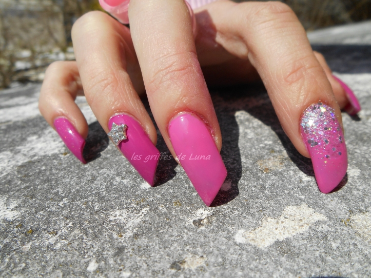 Nail art Pink princess 4