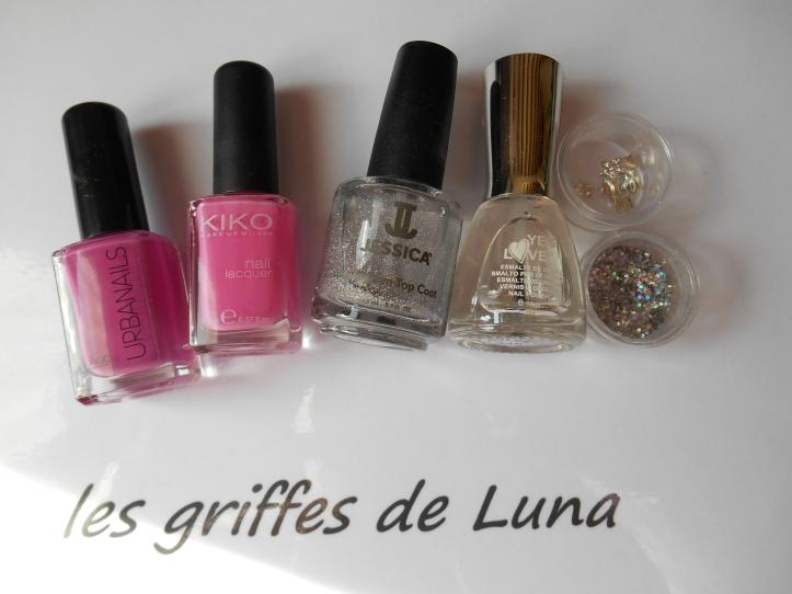 Nail art Pink princess materiel