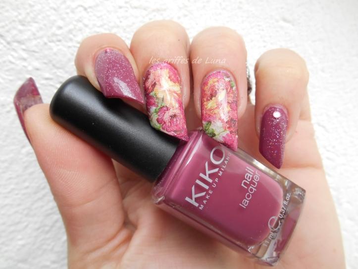 Nail art Roses vintage 1