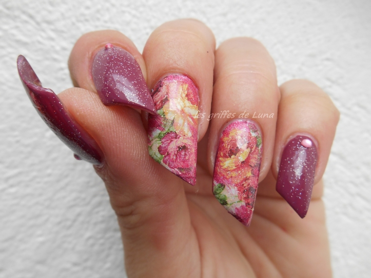 Nail art Roses vintage 2